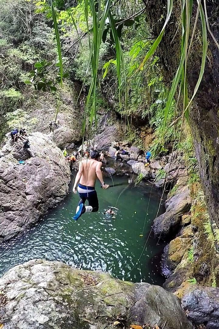 Jumping into El Verde Adventure.