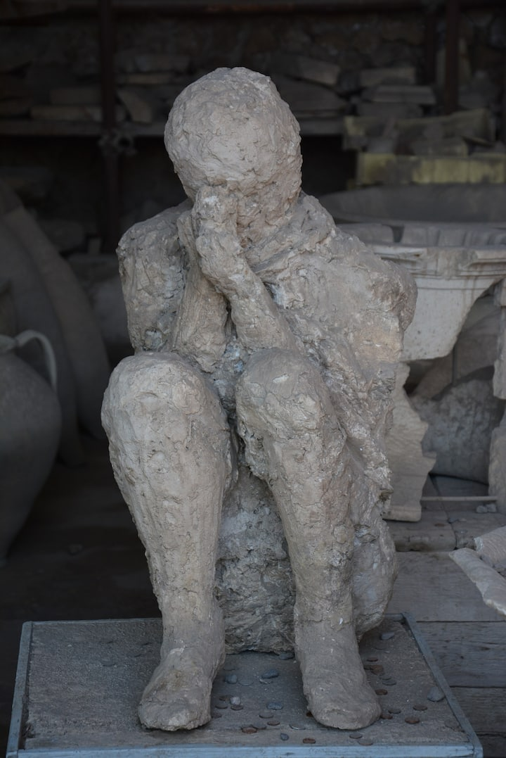 Plaster Cast of a victim of the eruption
