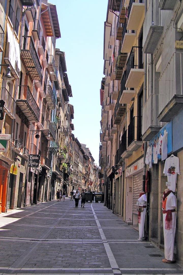 Estafeta street at Pamplona
