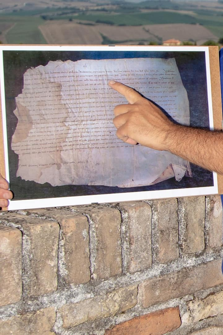 in old villages with historical document
