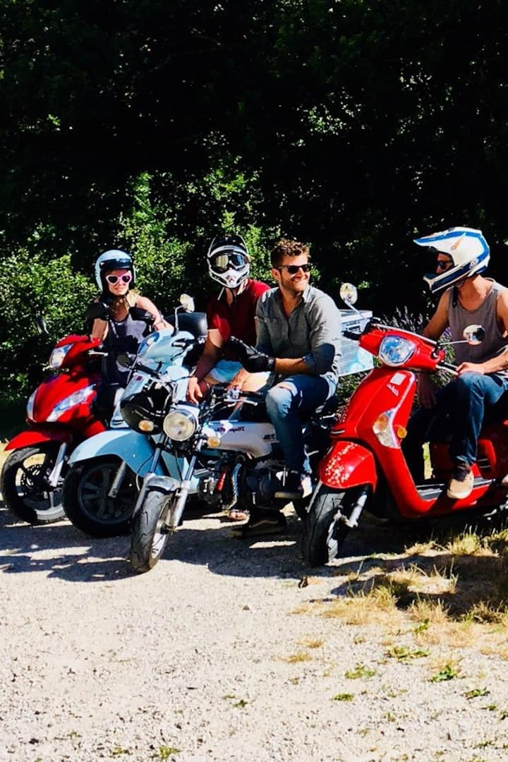 sortie entre amis a scooter scoot nomad