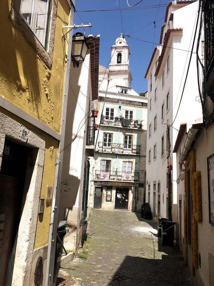 Walk through arabic narrow streets