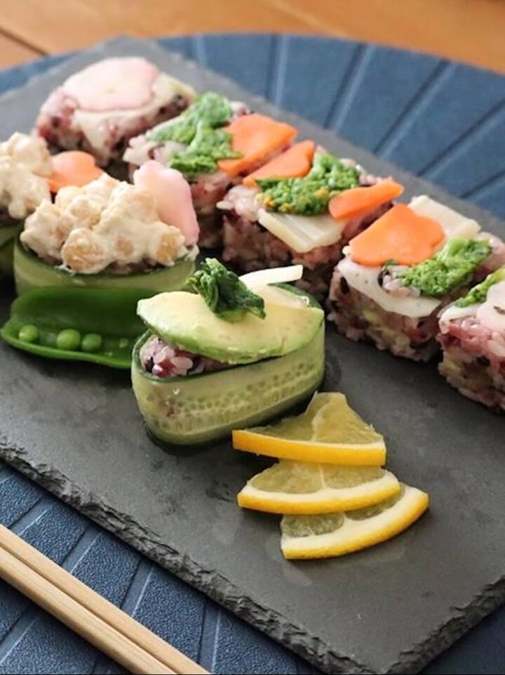 Okonomi Sushi in a Plated