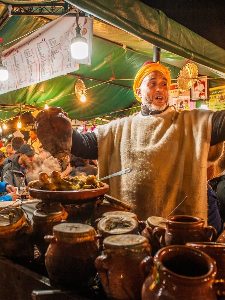 Food stall on Jamaa El Fenna square