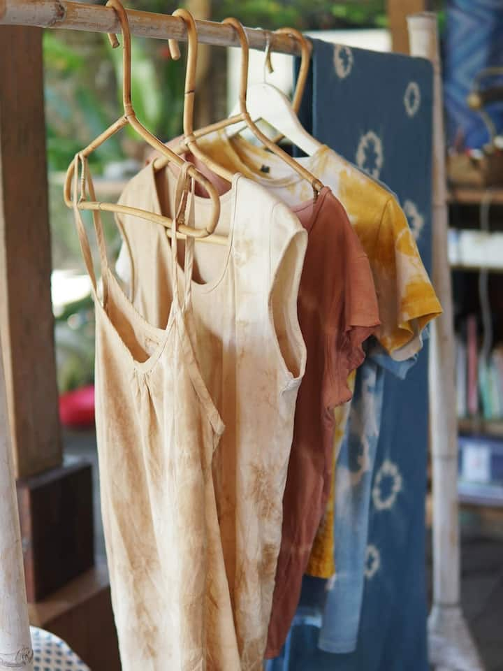 Plant dyed pieces