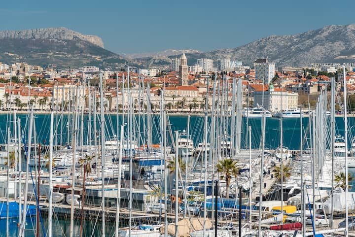 Beautiful Split harbor