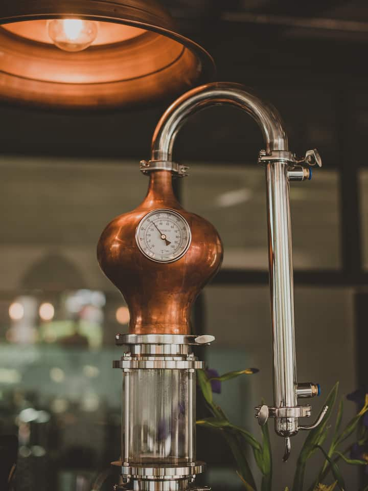 One of our pot stills on display