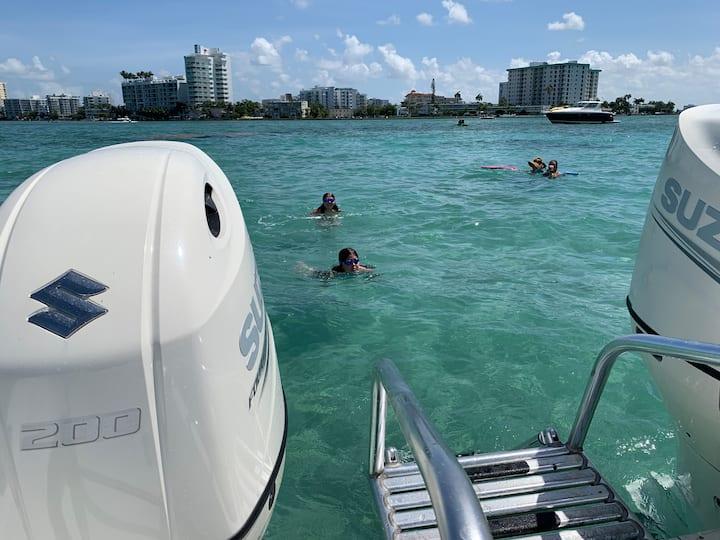 Snorkelers in action