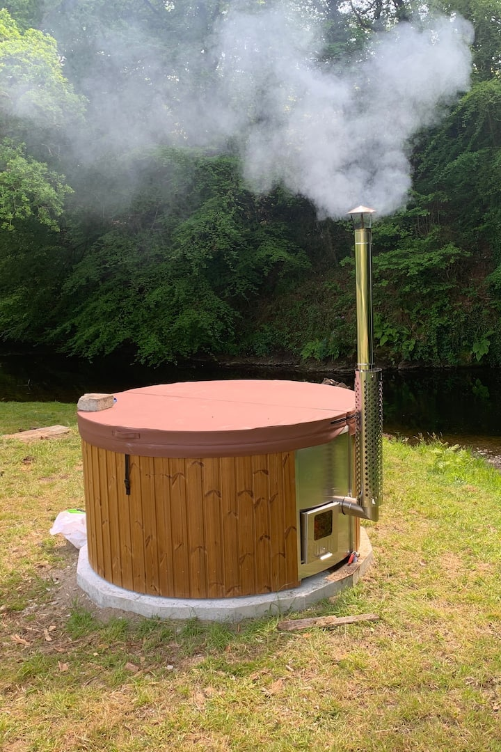 No 1 wood fired hot tub