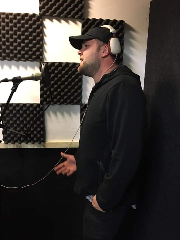 Brad in the Vocal Booth