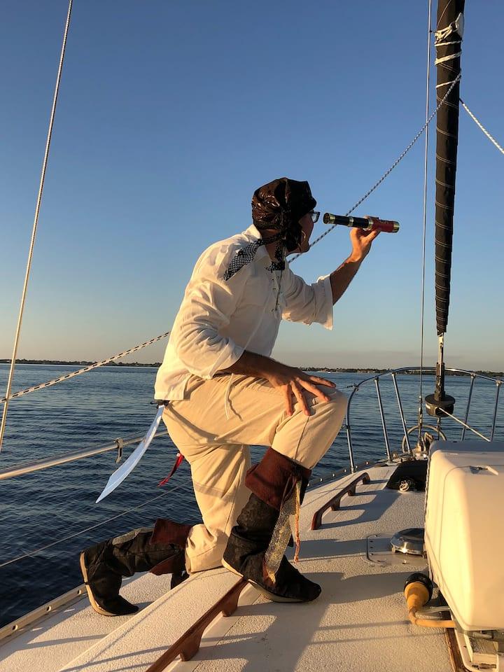 Pirate sailing