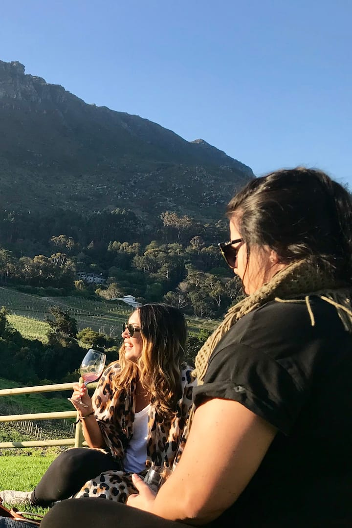 Great wine, food and company.