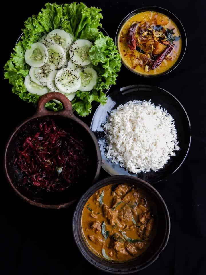 Sri Lankan Home Made Rice & Curry