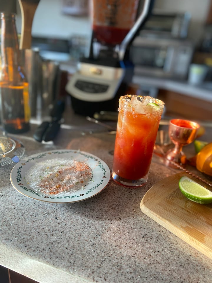 Sangrita inspired michelada