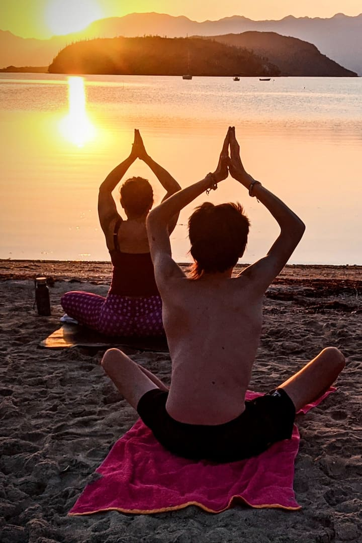 Moving into meditation as the sun crests