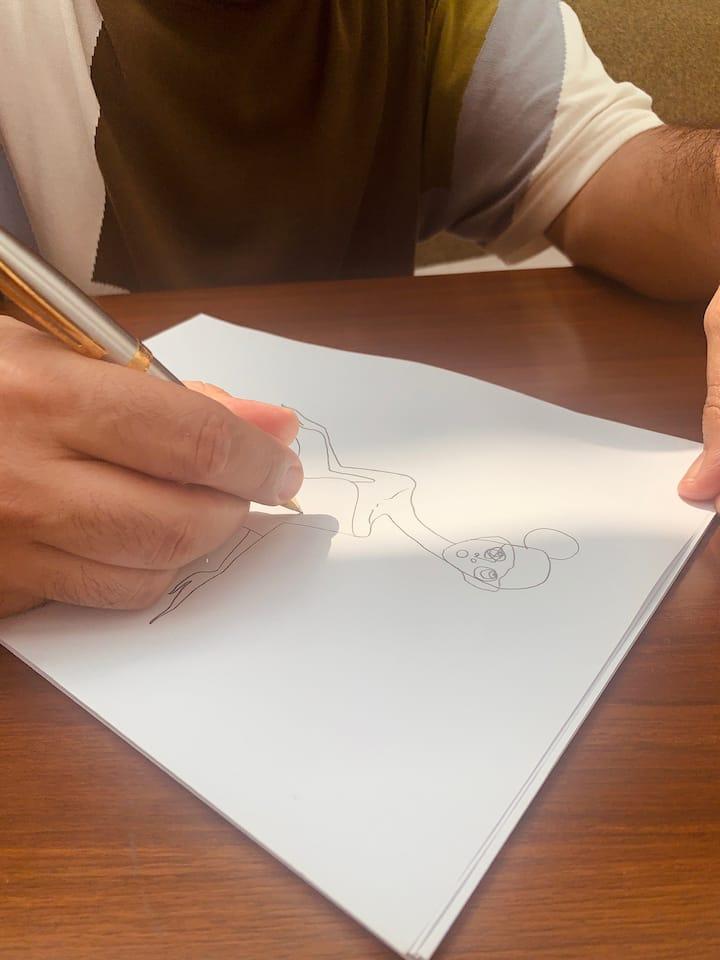 Details of one of Shivan's illustration