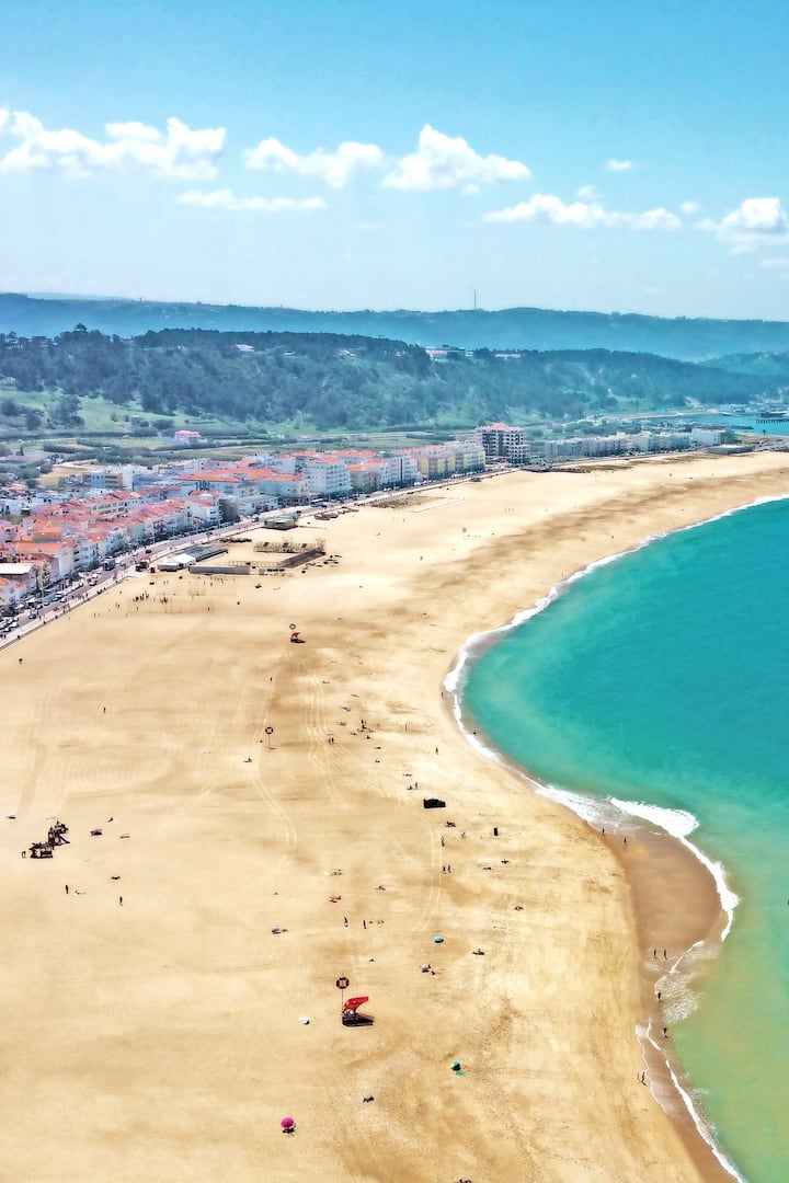 Town and beach of Nazare, Portugal