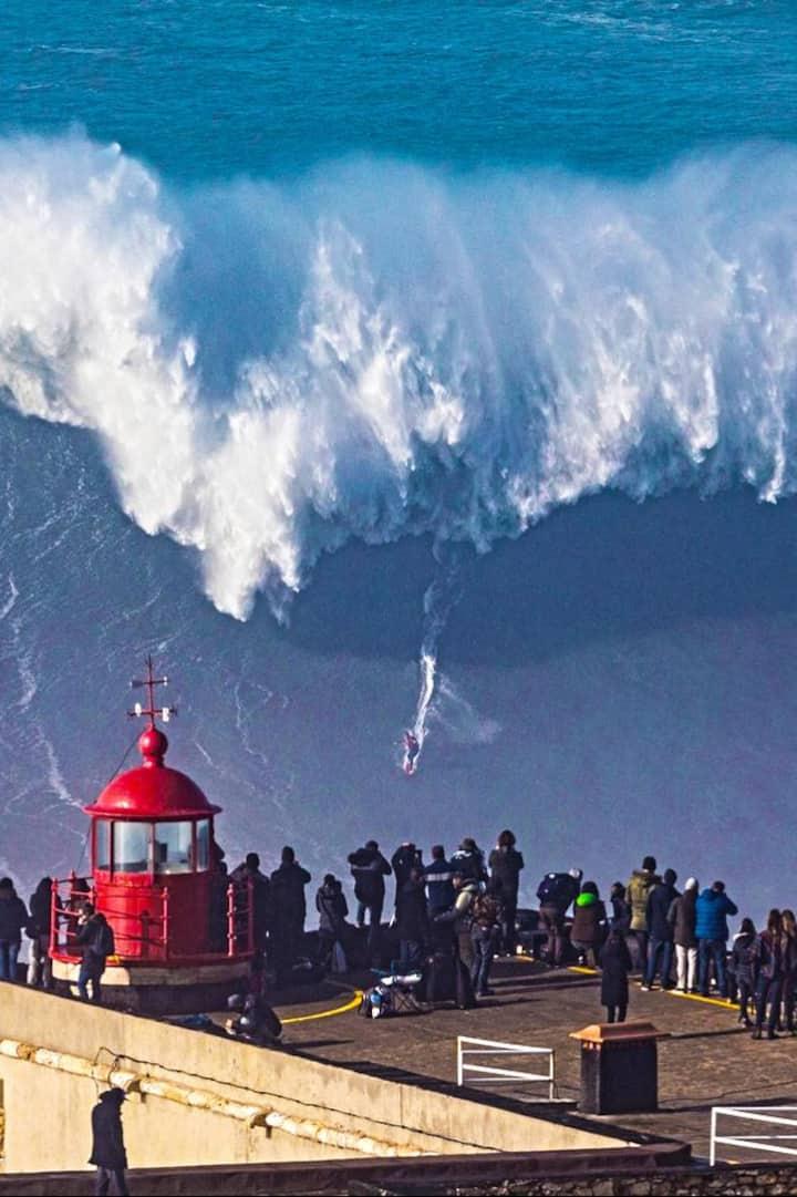 World surfing record - Nazare, Portugal