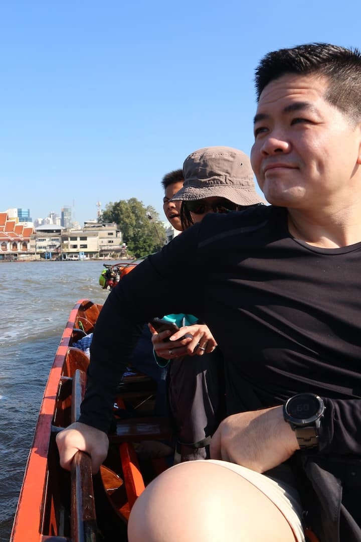 local ferry boat to cross the Chao Phray