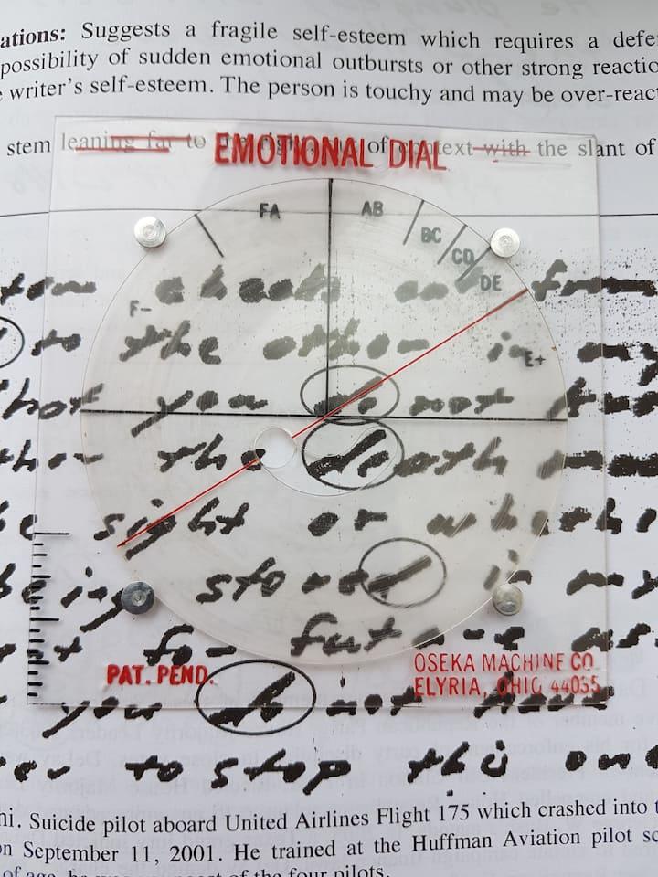 An emotional dial confirms the slant