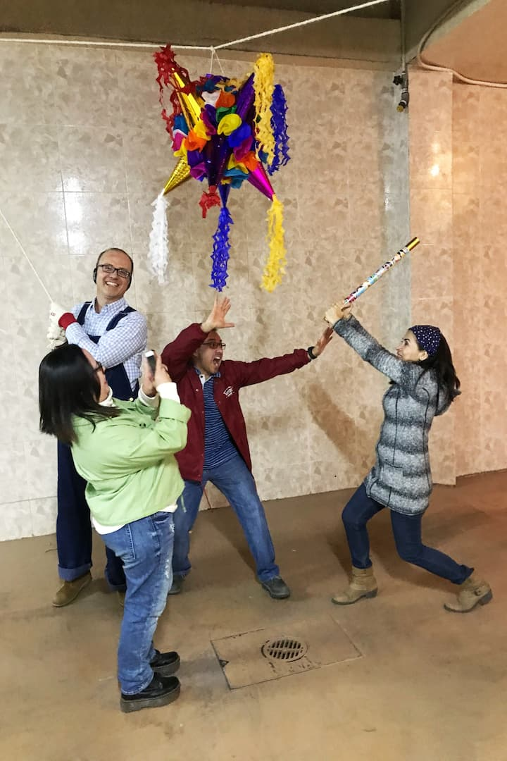 Breaking the piñata