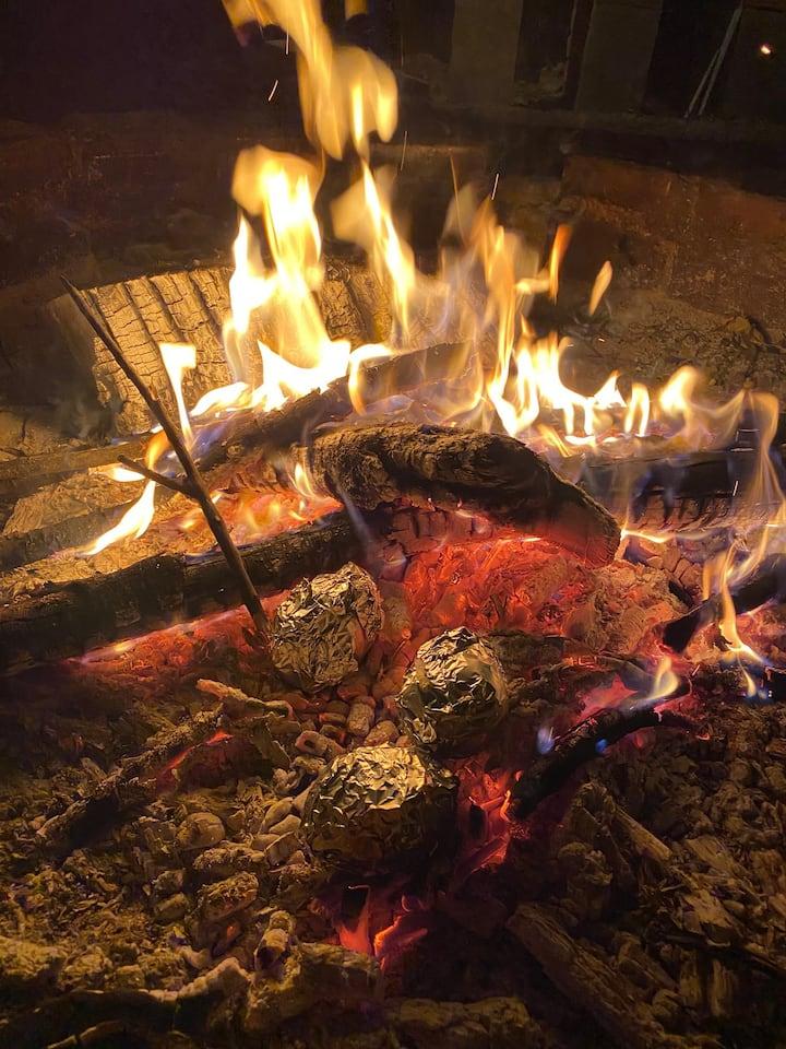 Slow-burning hard wood