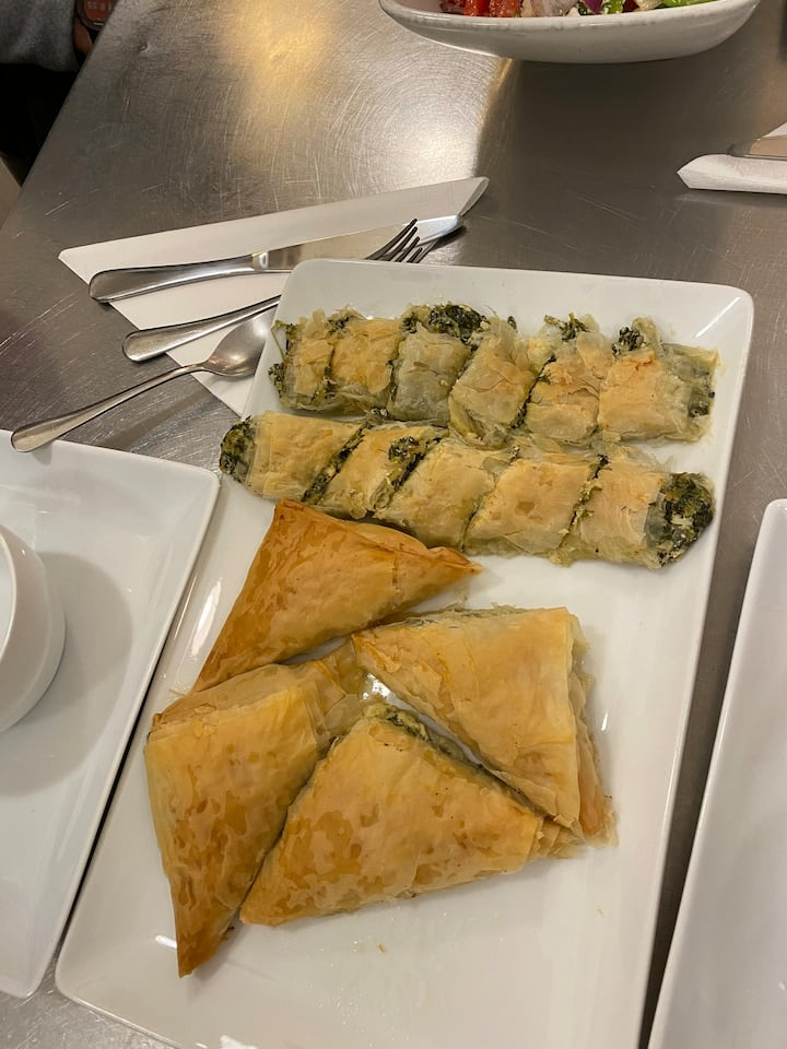 Baked Spanakopita  With Two Shapes