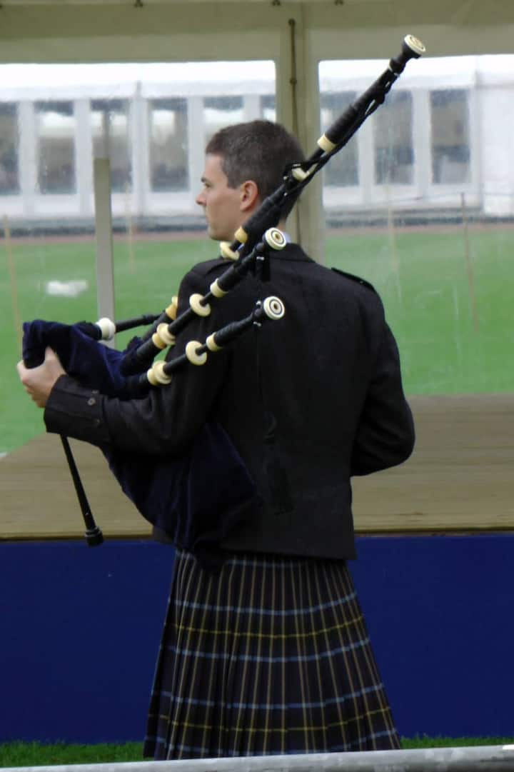 The sound of the Great Highland Bagpipe