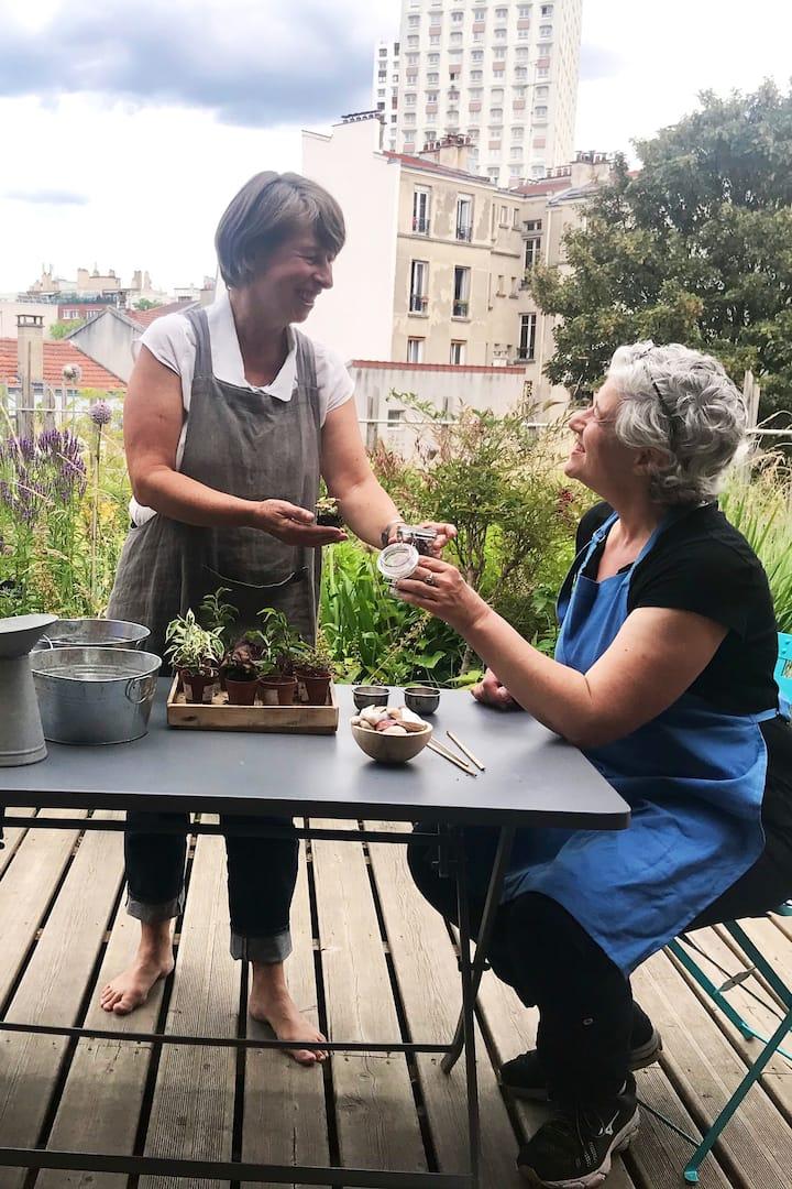 Avec Sylvie designer végétal