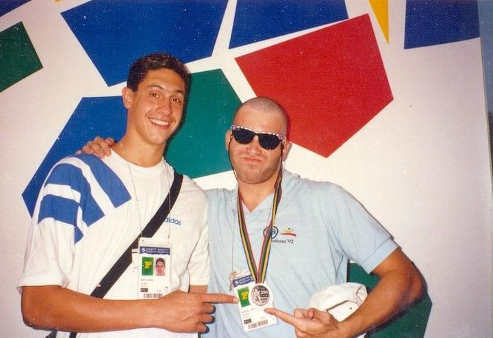 Em Barcelona 92 com Gustavo Borges