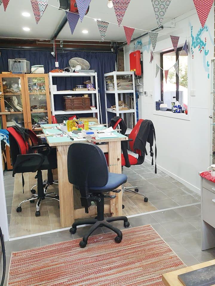 Lady Bird studio workshop space