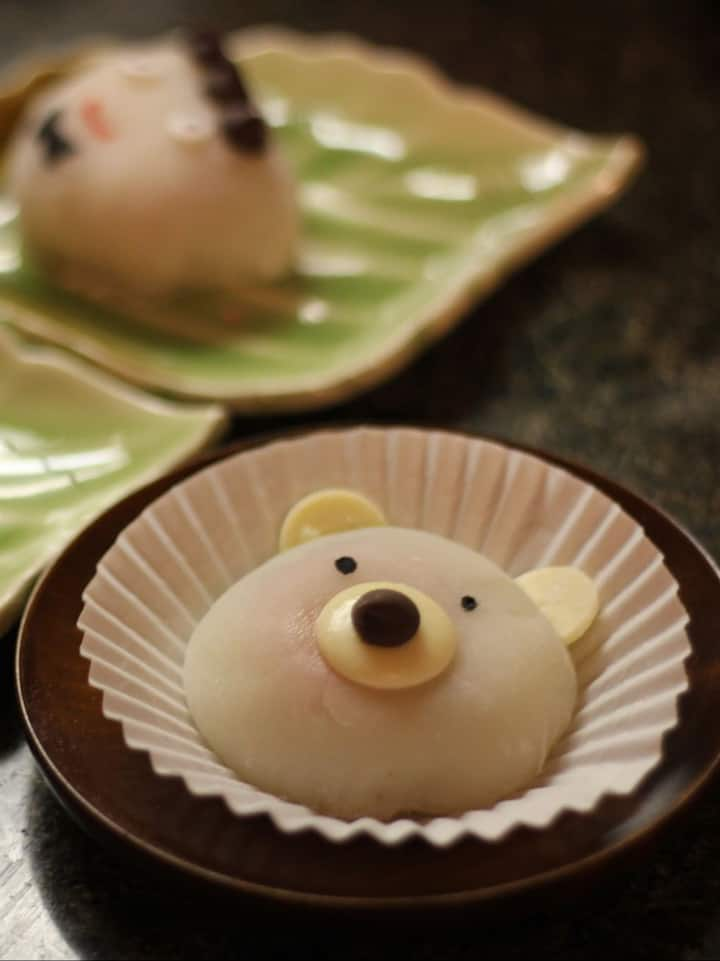decorated mochi