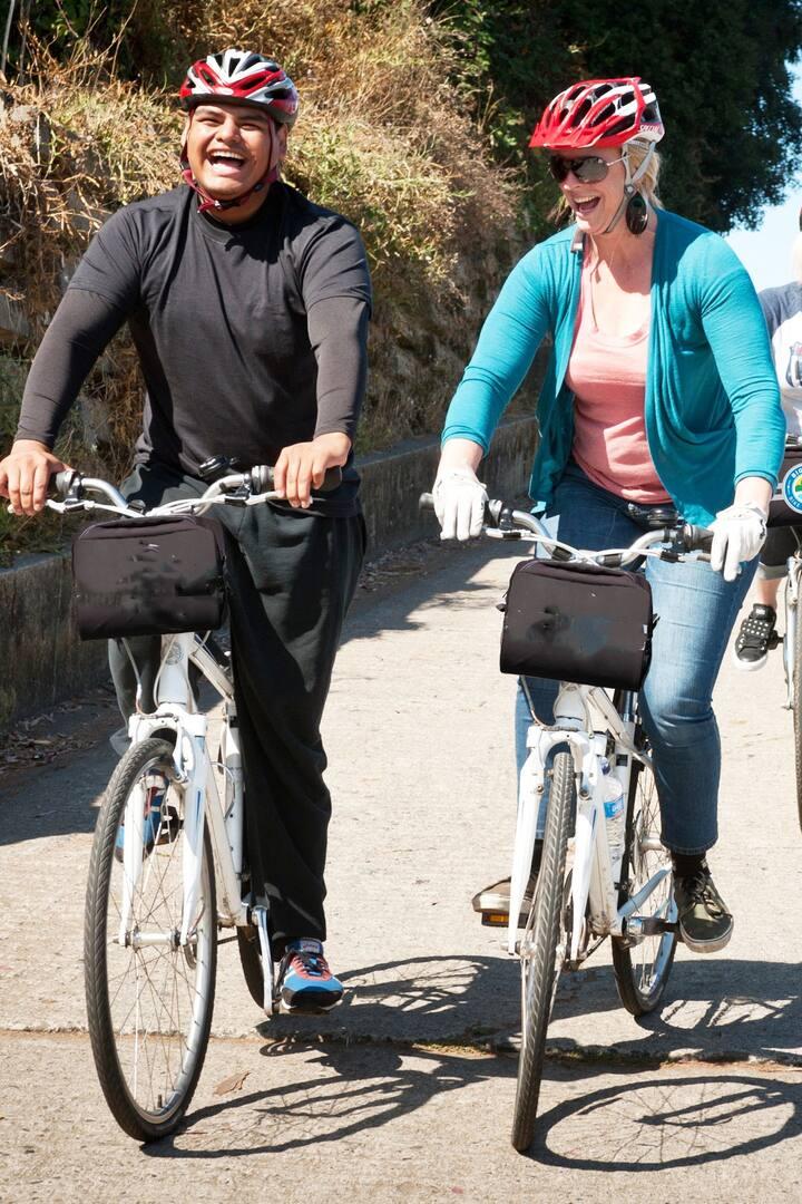 Biking + endorphins+ happiness