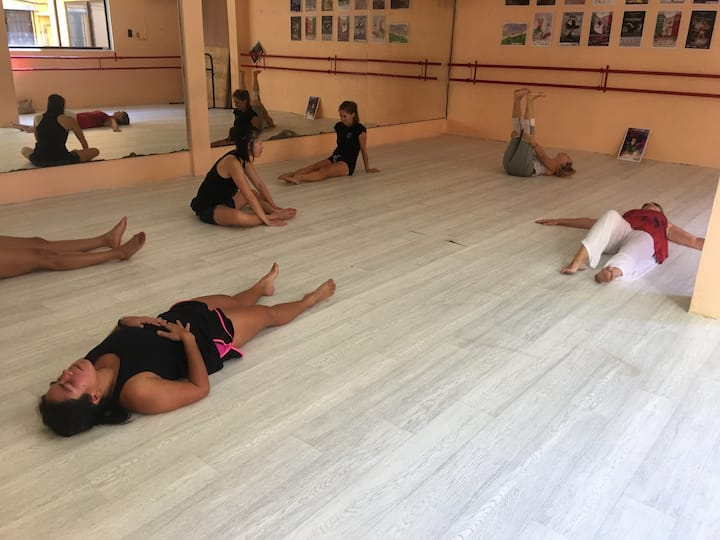 Post dance relaxation and stretching