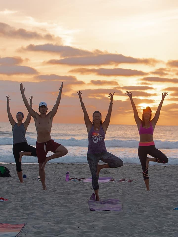 Restorative Sunset Yoga