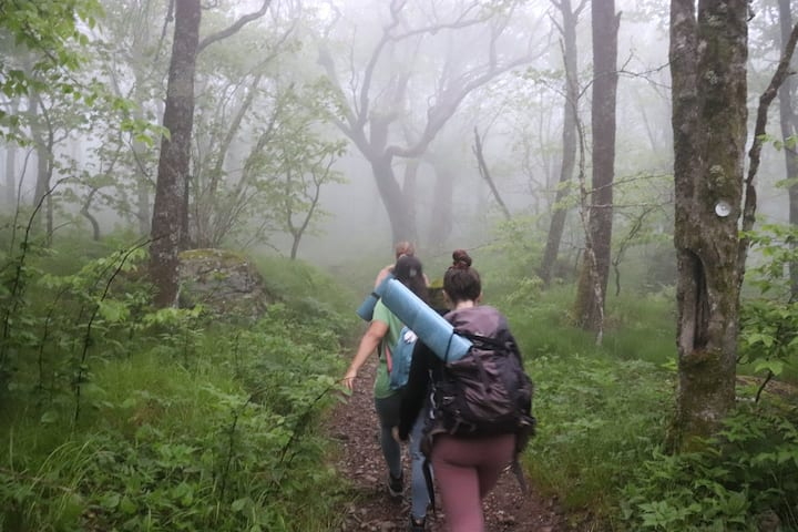 Sometimes we hike through the clouds
