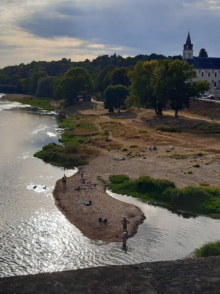 vues sur la Loire depuis ponts et berges