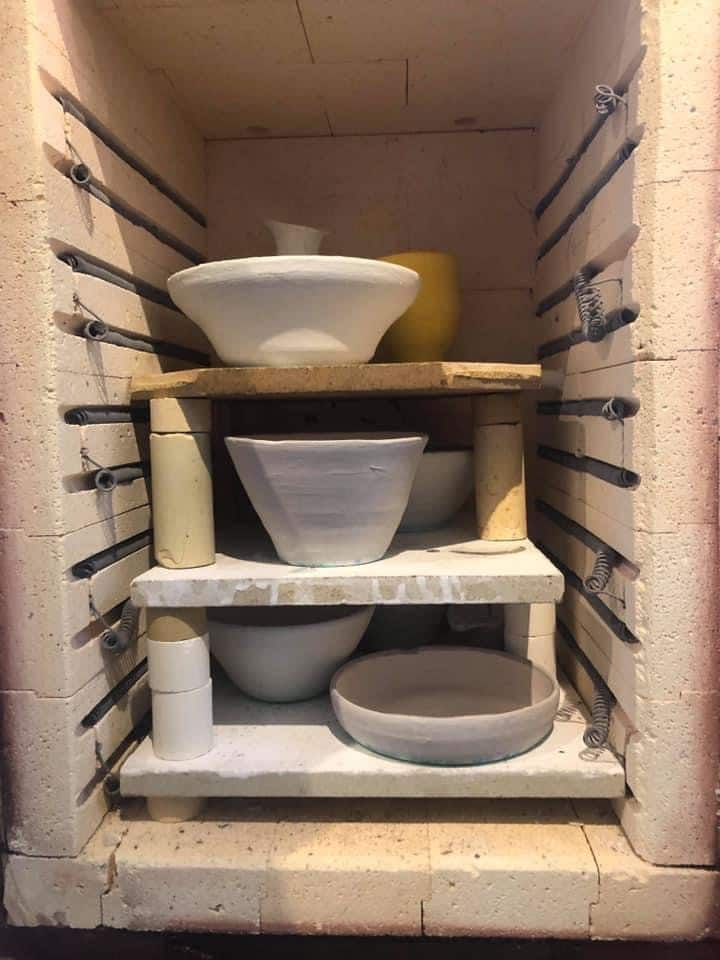 In the kiln...