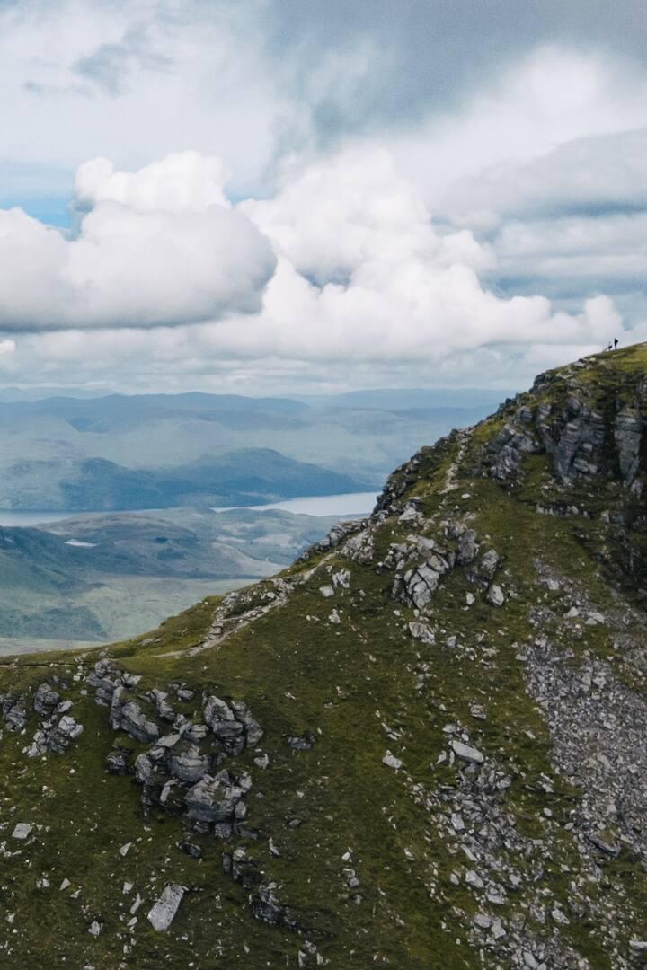 Summit view of Scottish Highlands