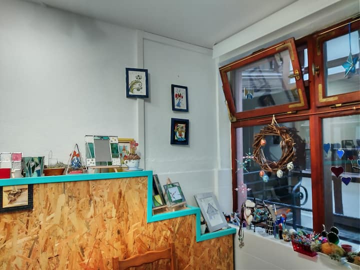 L'atelier vu de l'intérieur