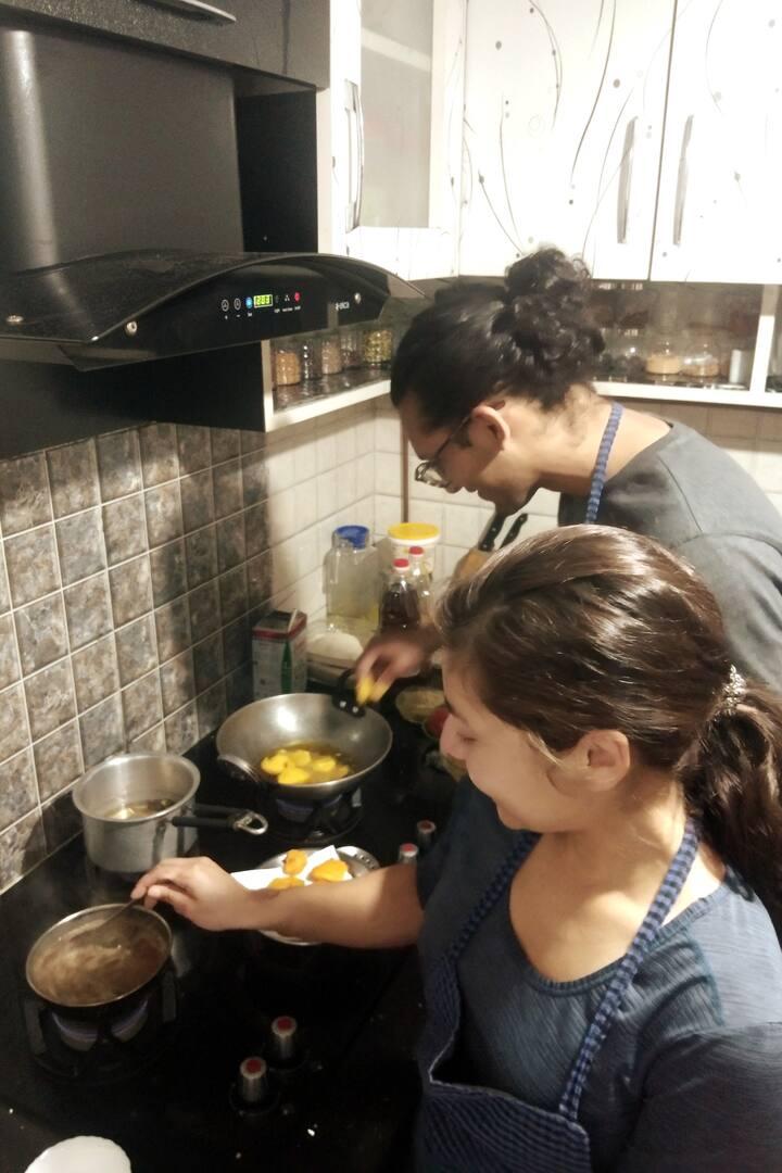Making Pakora and Chutney !!