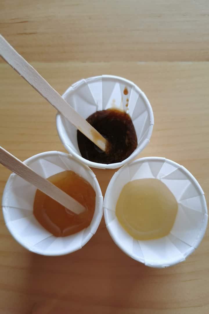Taste different kinds of honey.