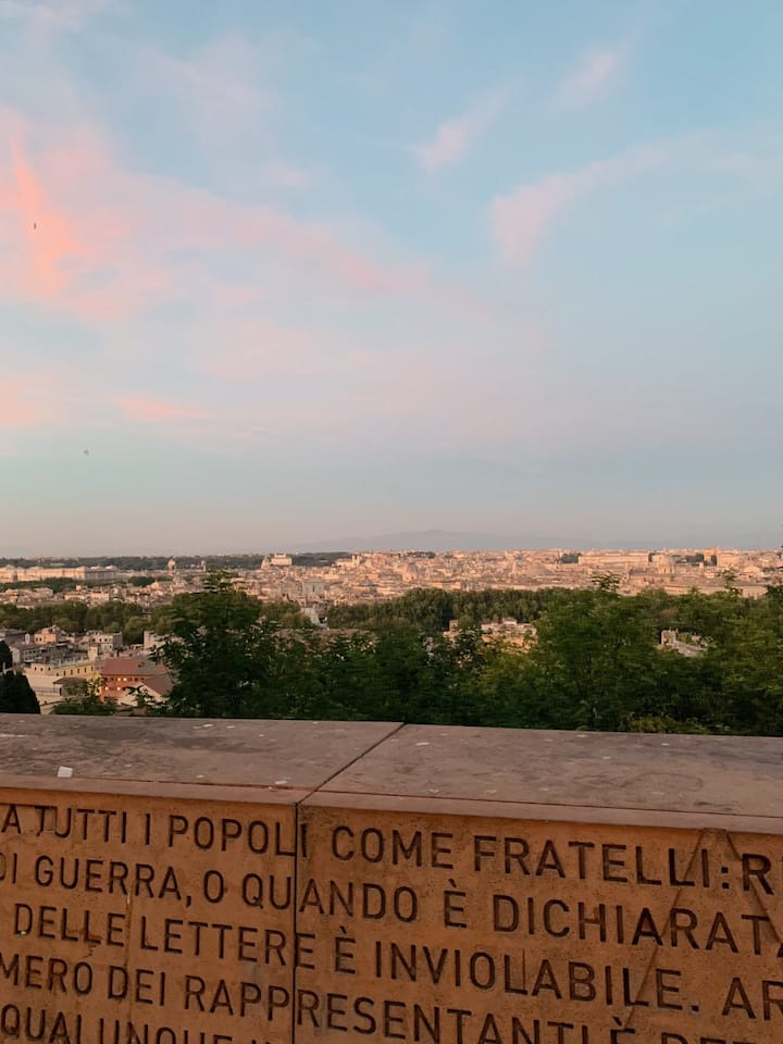 Veduta panoramica del Gianicolo