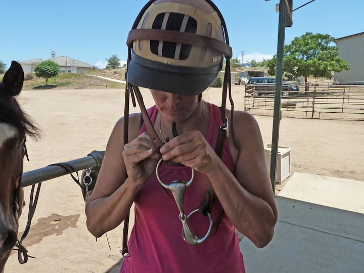 One way to add a bit to a headstall:)