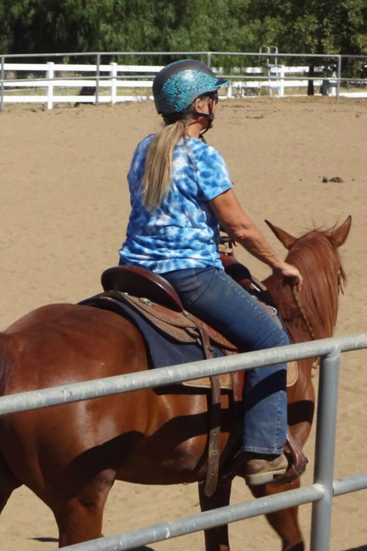 Instructor/horse trainer Diane.