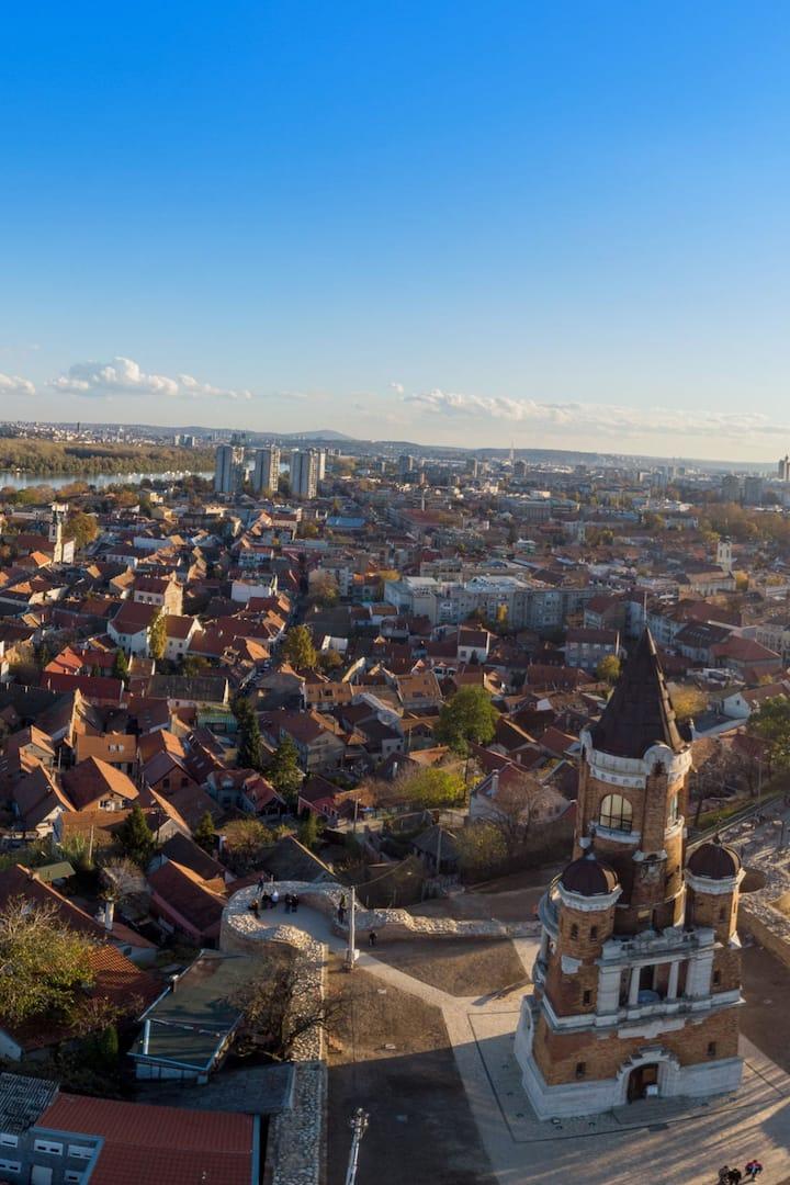 Aerial View on Zemun Belgrade
