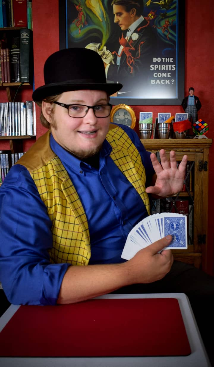 Alex demonstrating his card skills