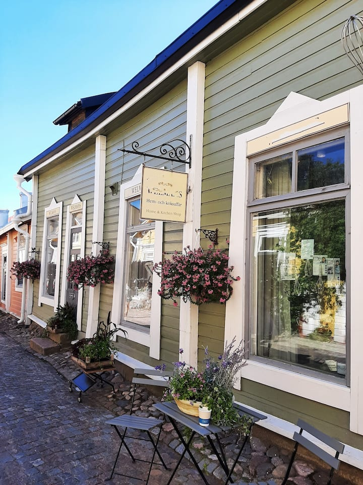 Cute local stores in Old Porvoo