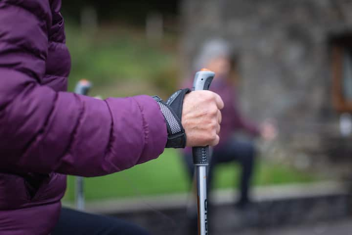 nordic walking poles are provided