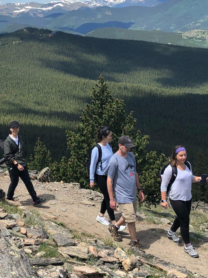 Hiking at 11,000 ft elevation!